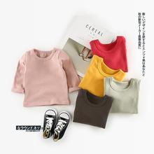2017 new infant basic clothing girls boys T-shirt autumn clothing childrens shirt outerwear NZ311