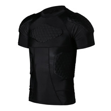 Outdoor Sport Men Basketball Honeycomb Anti-collision Shorts + Vest + T Shirts Protect Back Waist Leg For Running Soccer Rugby