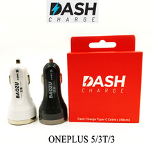 Oneplus Dash Car Charger Original One plus Dash Charge charger Type-C Cable For One plus 5 3t 3 Super Fast Car charger
