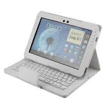 Wireless Bluetooth Keyboard +PU Leather Cover Protective Smart Case For Samsung GALAXY Note 10.1 N8000 N8010+Gift