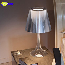 FUMAT Philippe Starck Lamp Simple Acrylic Table Lamp Modern Lampe Deco Bedroom Transparent Table Lamp Lights with E27 LED Bulb(China)