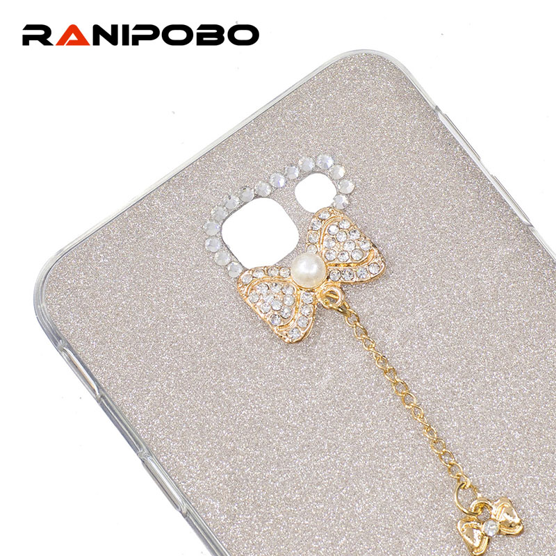 Luxury Diamond Bowknot Phone Case Samsung Galaxy J3, J310 Rhinestone Crystal Bling Cover J5 J7 prime J510 J710, 2016