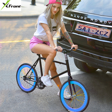 New X-Front brand carbon steel 20 inch wheel rear pedal brake fiets fixie women road bike fixed gear children bicicleta bicycle