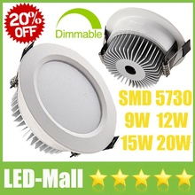 20% OFF Limited CREE 9W 12W 15W 20W SMD5730 Dimmable LED Downlights Fixture Recessed Ceiling Cabinet Down Lights Lamp CE SAA UL