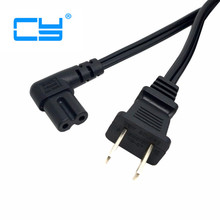 USA 2pin Male to 90 Degree Right Angled IEC 320 IEC320 C7 Power Supply Cord cable 1M 100cm 3ft