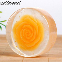 Zdiwond 1pc face cleaning soap essential oil whitening hydrating facial firming brightening skin repair rose handmade soap A6(China)