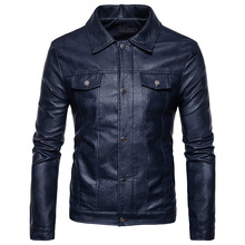 2017 New men's fashion Casual jacket coat High quality creative autumn winter clothing men's Leather Double leather jacket(China)