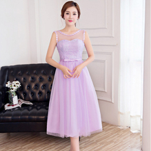 2017 latest laces elegant formal modest formal simple bridsmaid girl dress lilac bridesmaid short dresses under $100 H3892