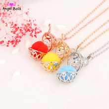 New Hollow Design Fragrance Necklace Diffuser Cage Pendant Jewelry for Women Angel Bola Women's Essential Oil Necklace(China)