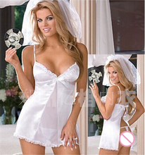 Women's Wedding Lingerie Bride Costumes Bridal Night Suits Intimate Babydoll Fantasias Cosplay Sexy Exotic Nightwear Underwear