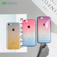 OICGOO Case For iPhone 6 6s 7 8 Plus X 5 5s SE Gradient Colorful Soft TPU Silicon Phone Cases For iPhone X 10 8 7 6 6s Plus Case(China)