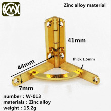 41*44mm 10pc Reliable quality Zinc alloy Wooden box hinges and Jewelry box hinges Gift boxes hardware accessories W/screw W-013