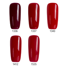 Modelones 10ml Wine Red Series Set Soak Off Gel Polish With UV Lamp Nail Gel Varnish For Nail Gel Polish(China)