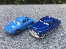 TT03-- Original Pixar Cars Movie 1:55 Doc Hudson & Sally Metal Diecast Toy Cars 2pcs Set New Loose K03