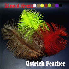 8PCS Multiple Colors Ostrich feather Fly Tying Material colorful Ostrich hair Fly Fishing lure bait making Streamer Bugs Salmon(China)