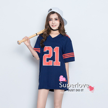 Women Sport Short Sleeve Gore 21 Jersey Rugby/Hockey/Baseball/Tennis/Basketball T shirt/Camisetas/Clothes For Mujer/Femme/Girls