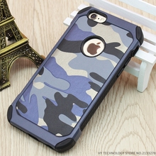 Army Camo Camouflage Pattern Back Cover Hard Plastic & Soft TPU Armor Protective Phone Cases For iPhone 6 6S 7 Plus 4 4S 5 5S SE