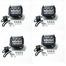 4pcs 18W LED Work Light ATV Off Road Light Lamp Fog Driving Light Bar For 4x4 Offroad SUV Car Truck Trailer Tractor UTV Vehicle