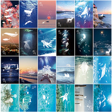 30 pcs/lot Vintage Luminous card Marine animals postcard landscape greeting card christmas card  message gift