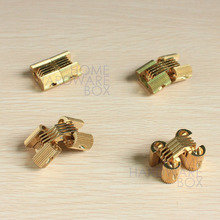 4 pcs hidden hinge invisible hinges concealed barrel golden brass 1""