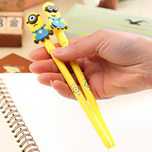 Free Shipping Creative Kawaii Minions Gel Pen Colorful Roller Ball Pen Gift for Children School Suppliers Novelty Stationery(China)