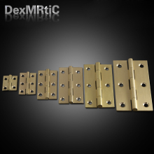 Furniture Hinges Solid Copper Hinge 25*19mm/38*23mm/ 50*27mm/ 63*34mm/ 76*40mm Box Hinge Industrial Hinge(China)
