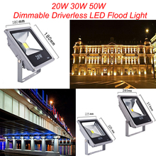 1pcs 20w 30w 50w IP65 Dimmable Driverless LED Flood Light Floodlight LED street Lamp LED luminaire light Free Shipping