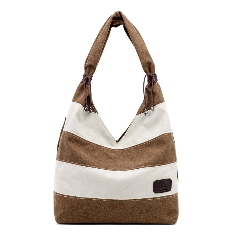 2016 Women Beach Canvas Bag Fashion Color Stripes Printing Handbags Ladies Large Shoulder Bag Totes Casual Bolsa Shopping Bags<br><br>Aliexpress