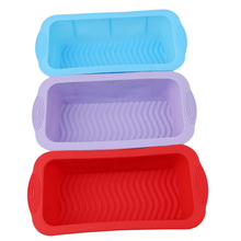 Silicone Rectangular Form Toast Bread Cake Pan Mold Baking Tool For Brownie Chiffon Sponge Baking Tool Kitchen Cake Stencil(China)