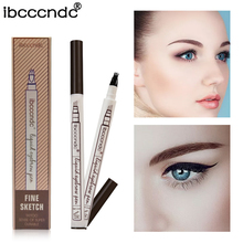 3 Colors Microblading Eyebrow Tattoo Pen Fine Sketch Liquid Eyebrow Pen Waterproof Tattoo Durable Eye Brow Pencil Smudge-proof(China)