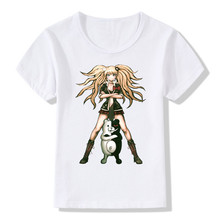 2017 Children Danganronpa Logo T Shirt Girls Boys Japanese Anime Kids Fashion T-shirt Summer Short Sleeve Baby Clothes, HKP647