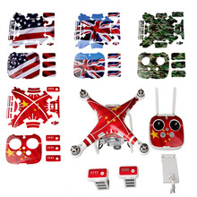 Drone Waterproof Sticker Remote control / Drone body Shell/ Battery Sticker skin for Dji Phantom 3 3A 3P Advanced Professional