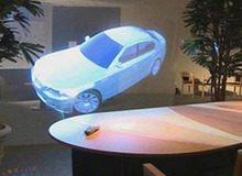 1.524mx3m Holography optical clear Adhesive Rear Projection Screen Foil(film) for Glass/advertising, free fedex freight cost