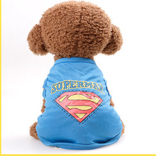 Buy Puppy Vest Shirts Pet Dog Clothes Hoodies Coats Funny Costumes Spring Clothing Small Big Dog Superman designs for $3.65 in AliExpress store