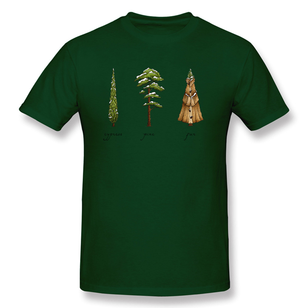 Know Your Coniferous Trees T-shirts for Men Street Fall Tops Shirt Short Sleeve Brand Printed On Tee-Shirt O Neck Pure Cotton Know Your Coniferous Trees dark