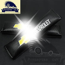 Car seat belt shoulder sleeve Carbon fiber Cover Shoulder Pad seat belt fit for chevrolet cruze accessories aveo lacetti captiva
