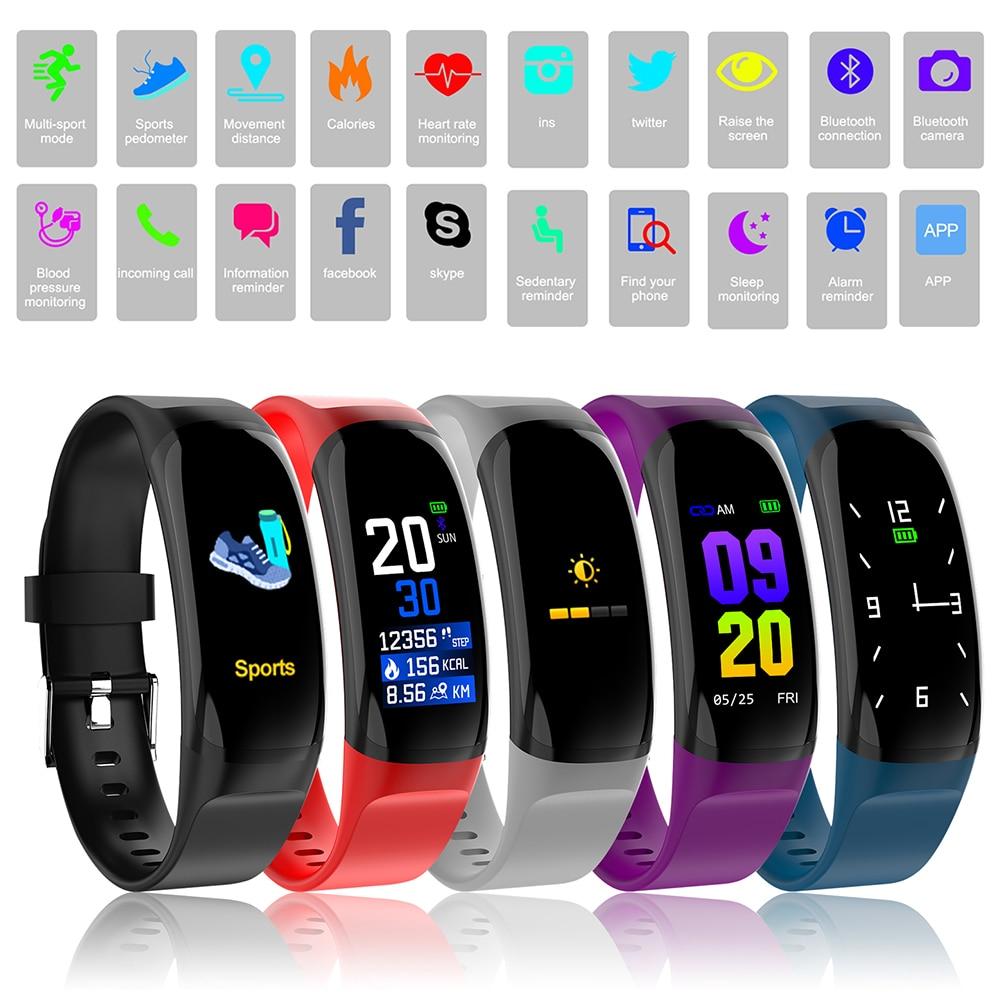 696 New Sports Watch Smart Bracelet Blood Pressure Monitor Waterproof Heart Rate Monitor Pulse Meter Weather Smart Watch Smart Electronics Wearable Devices