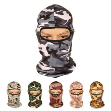 For Outdoor Cycling Hunting Bicycle Face Mask Windproof Camouflage Headwear Full Face Mask Outdoor Sports Face Hood(China)