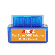 Latest Version V1.5 Mini ELM327 Auto Scanner ELM 327 Bluetooth OBD2 for Android OBDII Car V2.1 Vehicle Scan Diagnostic Tool