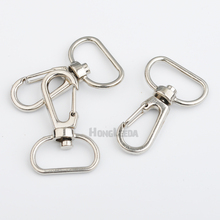 Wholesale Free shipping 40pcs/lt inner width 20mm Silver Alloy Swivel Clasps Snap Key Hooks DIY Key Chain Ring HK-004(China)