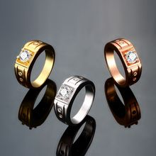 2015 Fashion New High Quality Personalized Wholesale New Rings 18K Gold/Platinum Plated ,Men's Fashion Party Gift