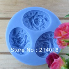 (( Holiday normal delivery )) wafer chocolate mold rose(3PCS/SET)silica gel chocolate Manufacture mold (si062)