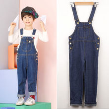 Pudcoco Overalls Kids Girls Bib Jeans Pants Spring Autumn Denim Pants Trousers 2-8Y