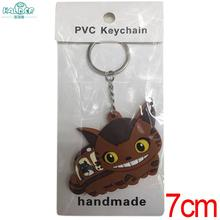 Halder Tonari no Totoro Figures Key Chains Mei May Totoro Cat Bus PVC Double Side Accessories Keychain For Kids Gift