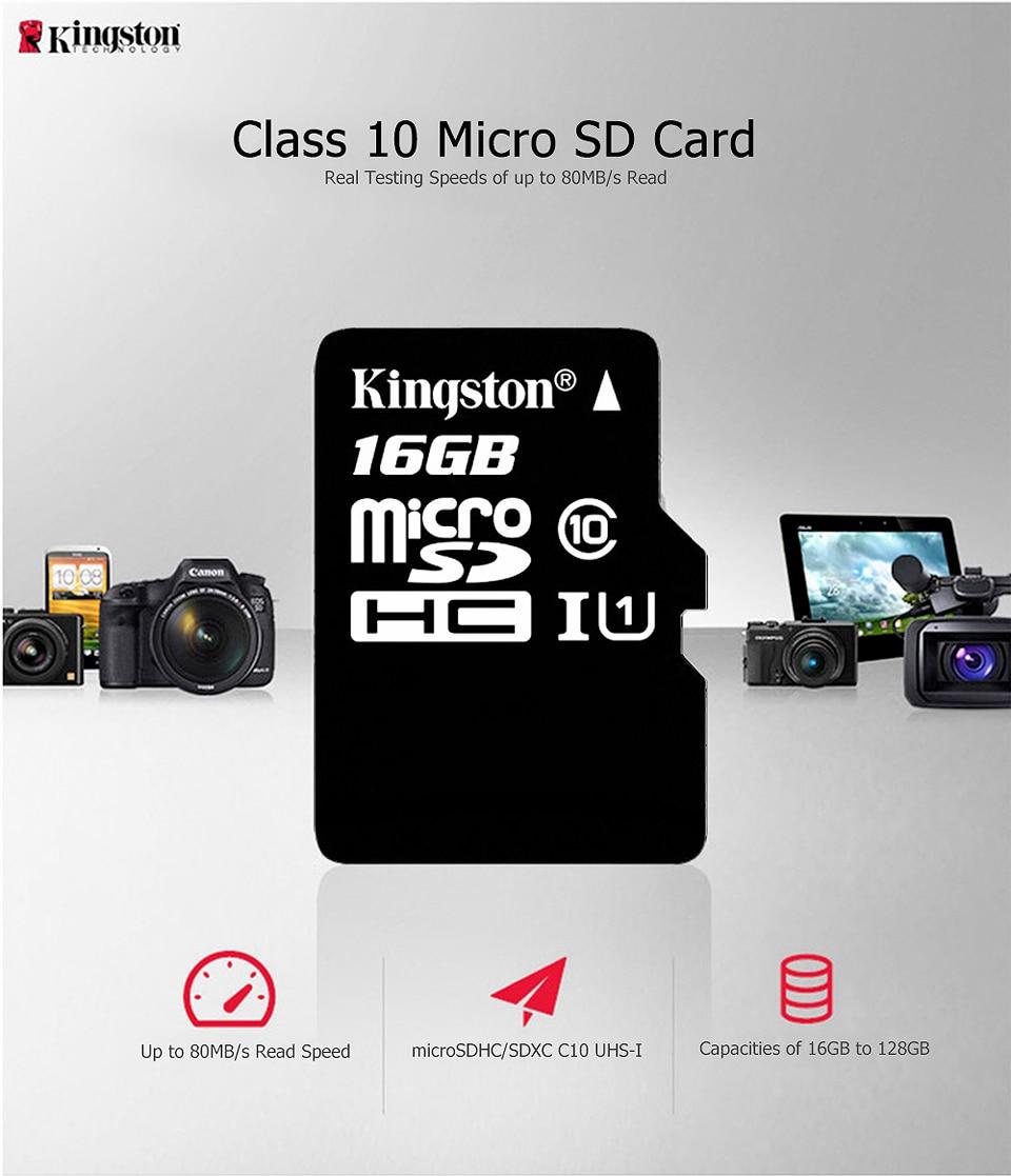 Kingston Class10 Micro Sd Card 16GB Memory Card Mini Sd Card16GB SDHC TF Card For Sony xperia z2 z3 z5 For HUAWEI p7 8 9mate9 (1)