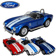 High quality high simulation 1:30 alloy pull back car,Limited edition Shelby Cobra vehicles,metal model cars toy,free shipping