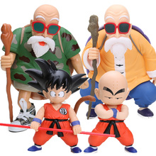 Master Roshi Son Goku Gokou Kuririn PVC Action Figures Dragon Ball Z Collectible Model Doll Gragonball GT Toys Figuren Brinqudoe(China)