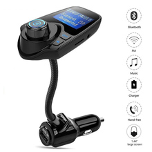 FM Transmitter Bluetooth FM Modulator Handsfree Car Kit Wireless Car MP3 Audio Player USB Car Charger LCD Display