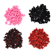 100Pcs Plastic Bear Nose Triangle Velvet Noses Buttons Diy doll toy Accessories Toy Noses For teddy bear Crafts(China)