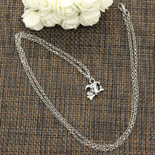 New Fashion Tibetan Silver Pendant dog carrying bone Choker Charm Short Long DIY Necklace Factory Price Handmade jewelry(China)